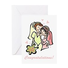 Congratulations Gay Wedding 1 Greeting Card