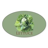 Leafy Lettuce Oval Sticker (50 pk)