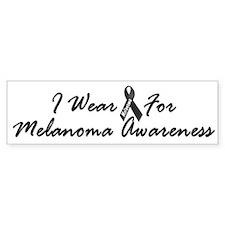I Wear Black For Melanoma Awareness 1 Bumper Sticker