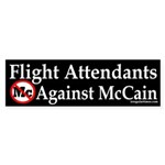 Flight Attendants Against McCain sticker