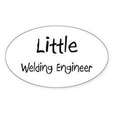 Little Welding Engineer Oval Decal