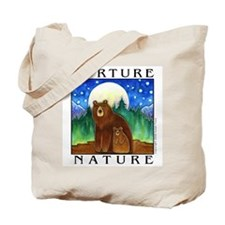 MOONLIGHT BEARS Large Shopping Tote or Book Bag