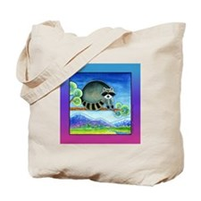 RACCOON RASCAL Large Shopping Tote or Book Bag