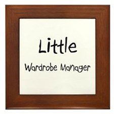 Little Wardrobe Manager Framed Tile