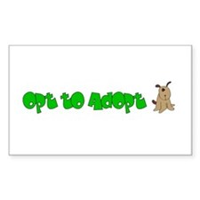 Opt to Adopt Rectangle Sticker 10 pk)
