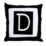 """Earwig Factory - Letter D"" Throw Pillow"