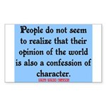 EMERSON - CHARACTOR QUOTE Sticker (Rectangle 10 pk