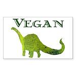 VEGAN Rectangle Sticker 10 pk)