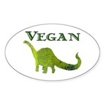 VEGAN Oval Sticker (50 pk)