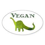 VEGAN Oval Sticker (10 pk)