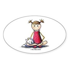 Kit & Kaboodle Oval Sticker (50 pk)