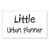 Little Urban Planner Rectangle Decal