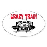 CRAZY TRAIN Oval Sticker (10 pk)