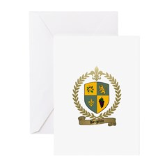 BERGEVIN Family Crest Greeting Cards (Pk of 10