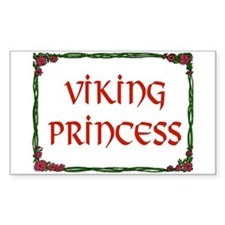 VIKING PRINCESS Rectangle Sticker 10 pk)