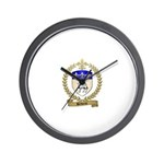 BELIVEAU Family Crest Wall Clock