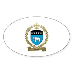 BENOIT Family Crest Oval Sticker