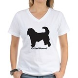 OTTERHOUND Womens V-Neck T-Shirt