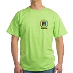 BOISVERT Family Crest Green T-Shirt