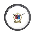 BOISVERT Family Crest Wall Clock