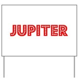 Retro Jupiter (Red) Yard Sign