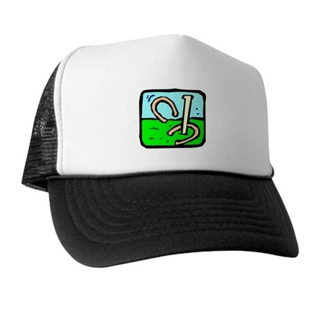 Horseshoe Pitching Trucker Hat