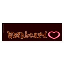 Washboard Heart Bumper Sticker (10 pk)