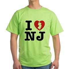 I Love NJ Green T-Shirt