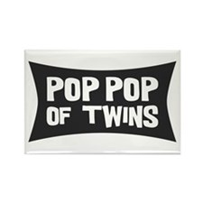 Pop Pop of Twins Rectangle Magnet