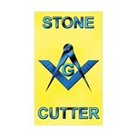 Stone Cutter Rectangle Sticker 10 pk)