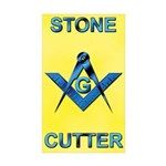 Stone Cutter Rectangle Sticker 50 pk)