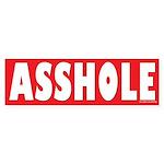 Asshole Prank or Revenge Sticker Bumper Sticker