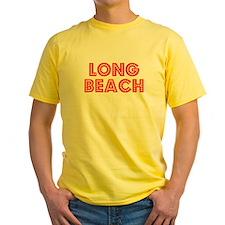 Retro Long Beach (Red) T