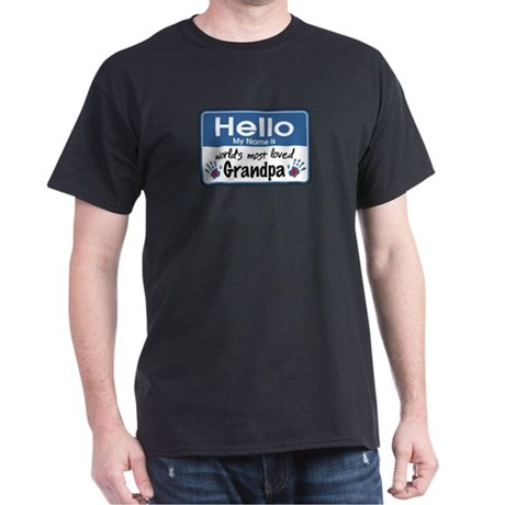 Hello Loved Grandpa Dark T-Shirt
