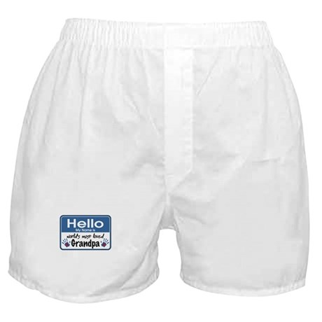 Hello Loved Grandpa Boxer Shorts