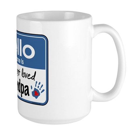 Hello Loved Grandpa Large Mug