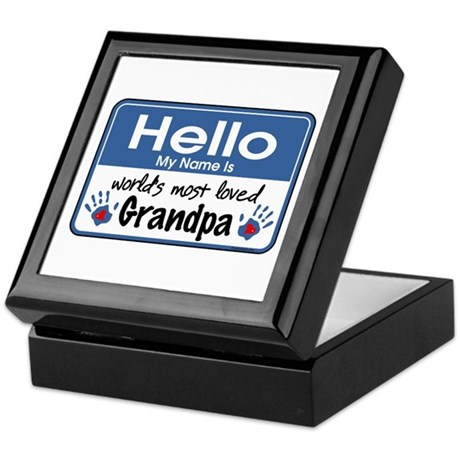 Hello Loved Grandpa Keepsake Box
