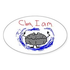 Clam, I am Oval Sticker (50 pk)