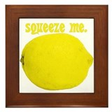 lemon squeeze Framed Tile