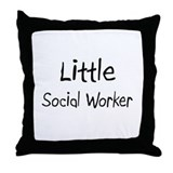 Little Social Worker Throw Pillow