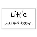 Little Social Work Assistant Rectangle Decal