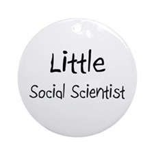Little Social Scientist Ornament (Round)