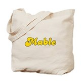 Retro Mable (Gold) Tote Bag