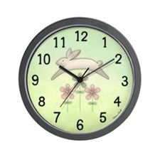 Jumping Bunny Wall Clock
