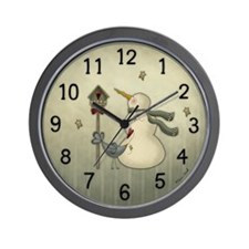 Sweet Snowman Wall Clock