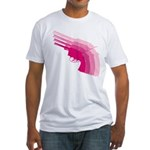 Hot Pink Revolver Fitted T-Shirt