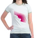 Hot Pink Revolver Jr. Ringer T-Shirt