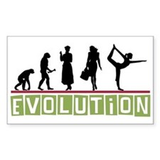 Evolution Yoga Rectangle Decal