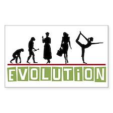 Evolution Yoga Rectangle Decal