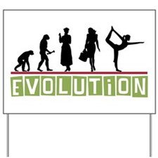 Evolution Yoga Yard Sign